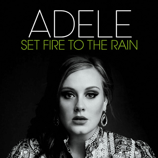 Original Cover Artwork of Adele Set Fire To The Rain