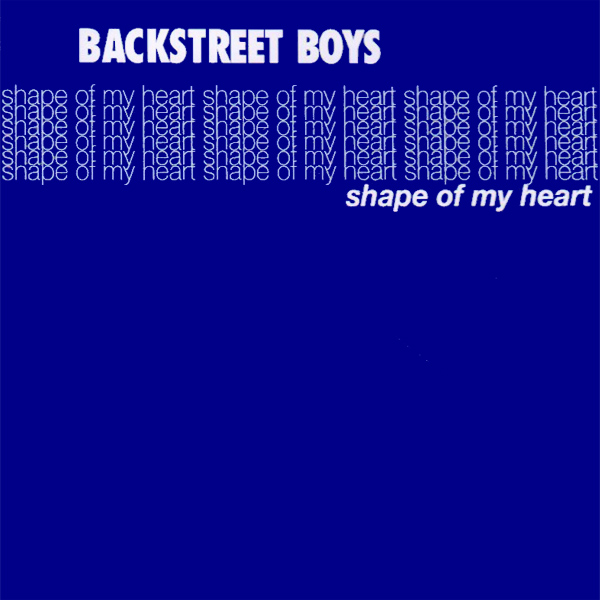 Original Cover Artwork of Backstreet Boys Shape Of My Heart
