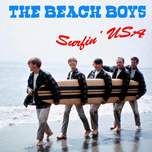Original Cover Artwork of Beach Boys Surfin Usa