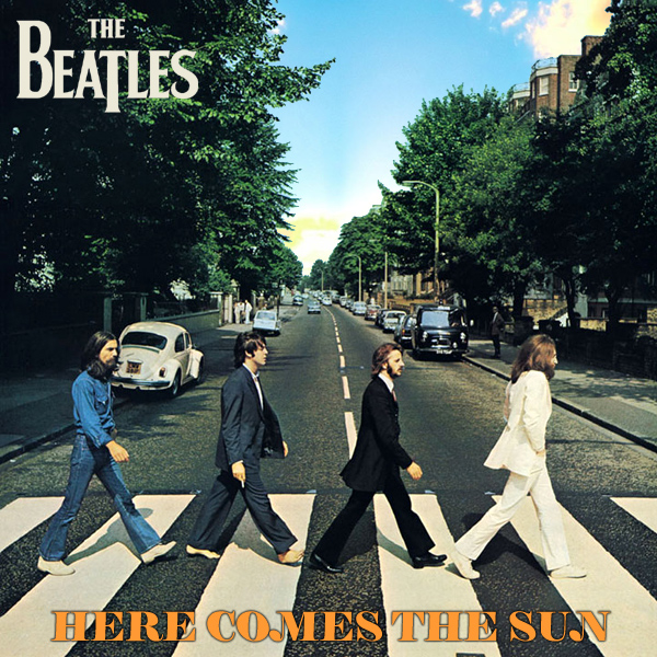 Original Cover Artwork of Beatles Here Comes Sun