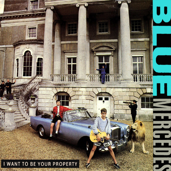 blue mercedes i want to be your property 1