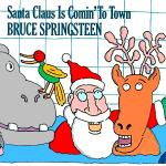 Original Cover Artwork of Bruce Springsteen Santa Claus
