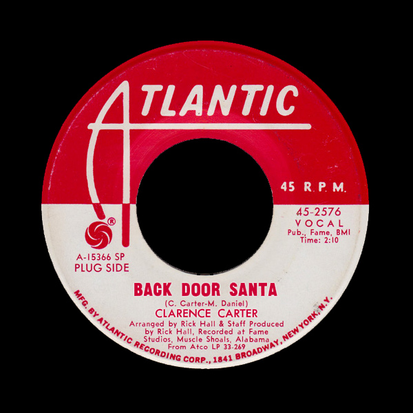 Original Cover Artwork of Clarence Carter Back Door Santa