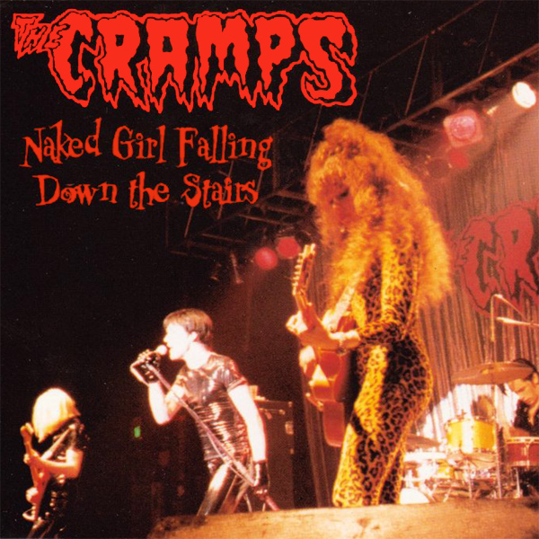 Original Cover Artwork of Cramps Naked Girl Falling Down The Stairs