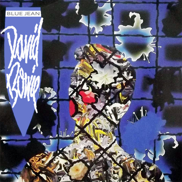 Original Cover Artwork of David Bowie Blue Jean