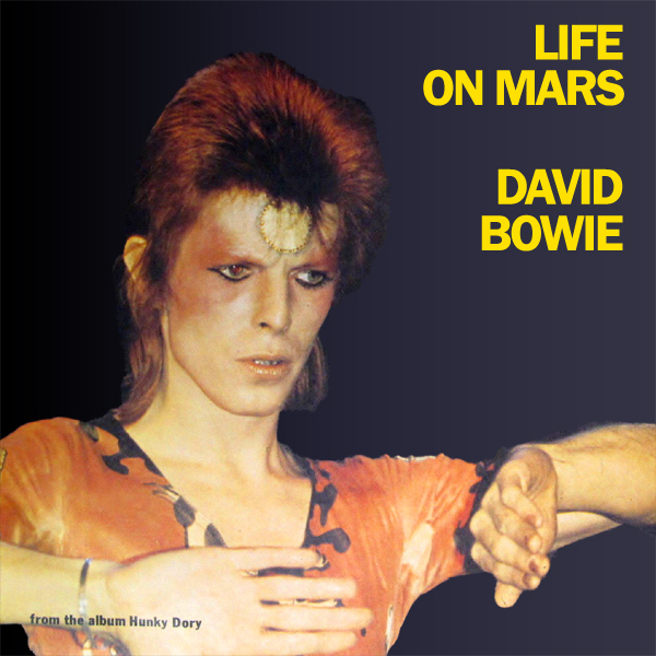 Original Cover Artwork of David Bowie Life On Mars