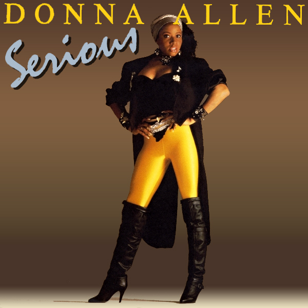 Original Cover Artwork of Donna Allen Serious
