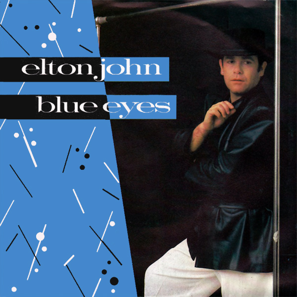 Original Cover Artwork of Elton John Blue Eyes