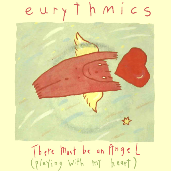 Original Cover Artwork of Eurythmics Angel Playing