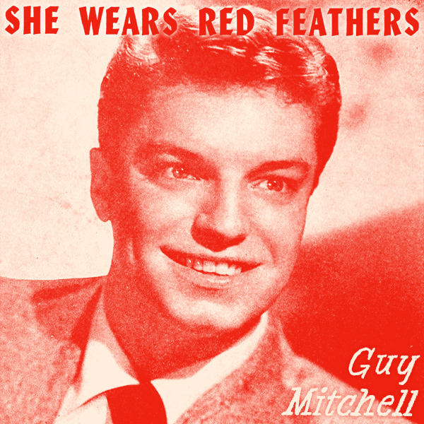 Original Cover Artwork of Guy Mitchell She Wears Red Feathers