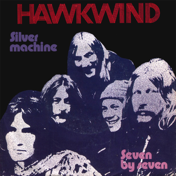 Original Cover Artwork of Hawkwind Silver Machine