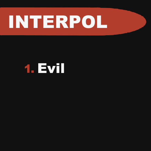 Original Cover Artwork of Interpol Evil