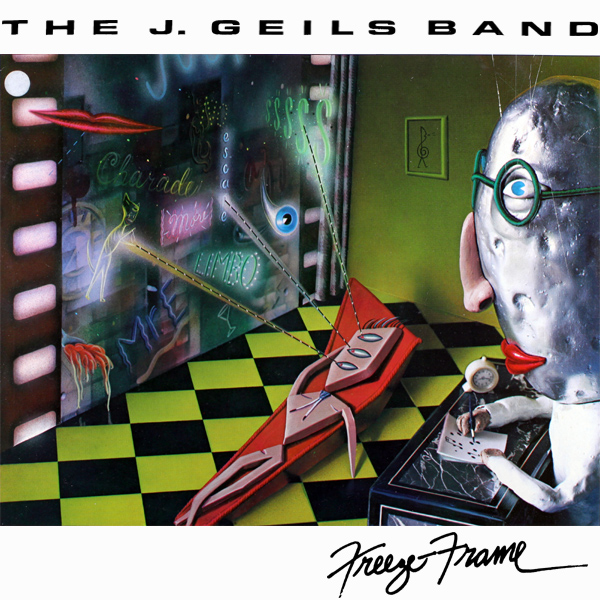 Original Cover Artwork of J Geils Band Freeze Frame