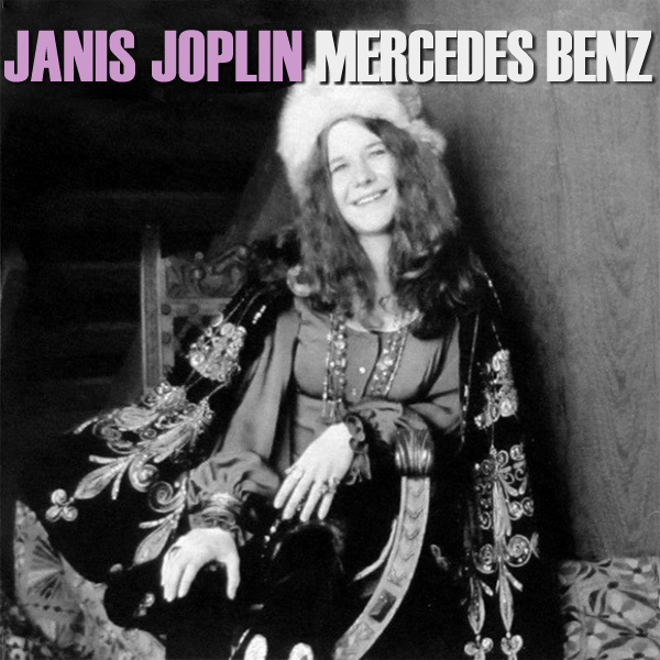Original Cover Artwork of Janis Joplin Mercedes Benz