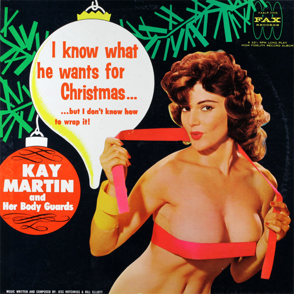 Original Cover Artwork of Kay Martin I Know What He Wants For Xmas