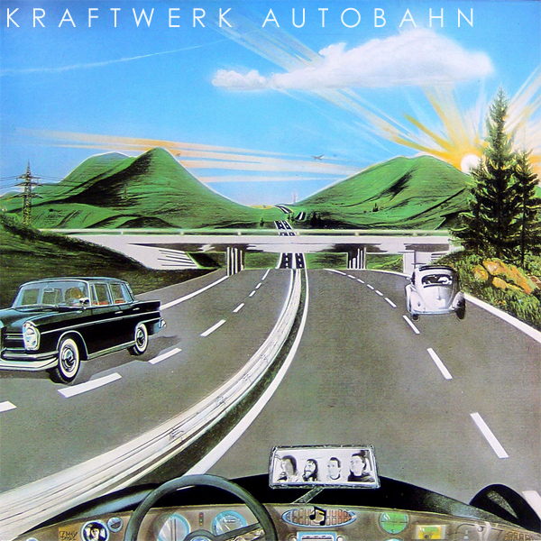 Original Cover Artwork of Kraftwerk Autobahn