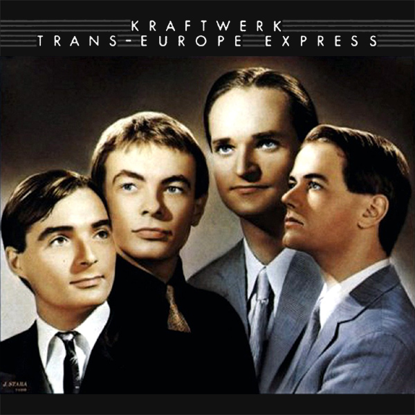 Original Cover Artwork of Kraftwerk Trans Europe Express