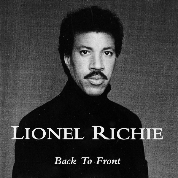 Original Cover Artwork of Lionel Richie Back To Front