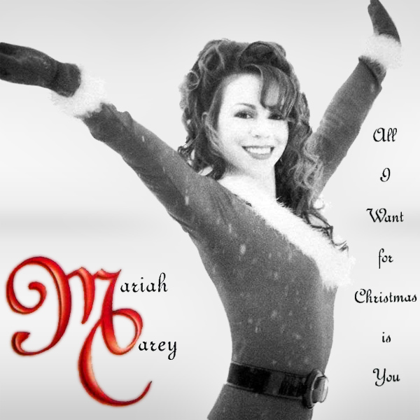 Original Cover Artwork of Mariah Carey All I Want For Christmas Is You