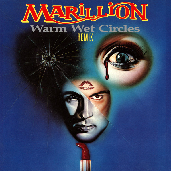 Original Cover Artwork of Marillion Warm Wet Circles