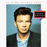 Original Cover Artwork of Rick Astley Hold Me In Your Arms