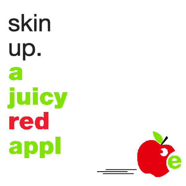 skin up a juicy red apple 1