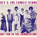 Original Cover Artwork of Sly Family Stone Hot Fun Summertime