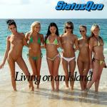 Cover Artwork Remix of Status Quo Living On Island