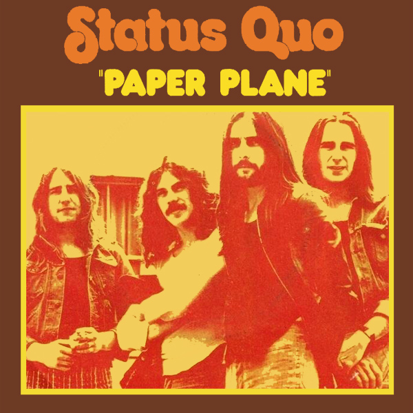 Original Cover Artwork of Status Quo Paper Plane