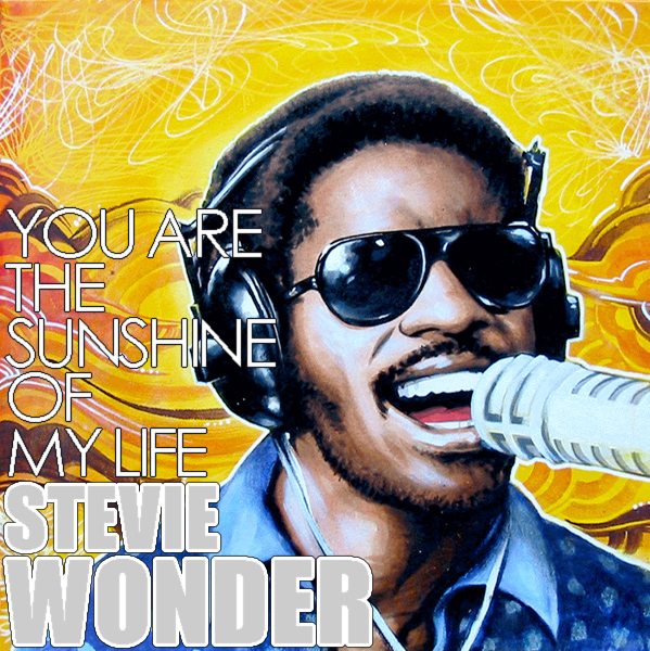 Original Cover Artwork of Stevie Wonder Sunshine Life
