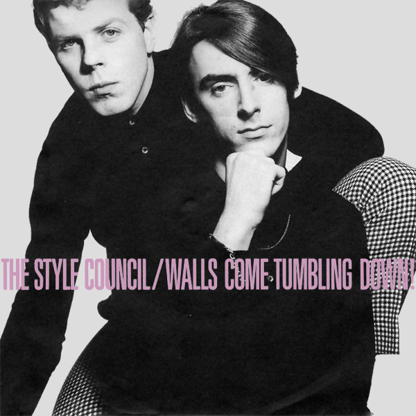 Original Cover Artwork of Style Council Walls Come Tumbling Down