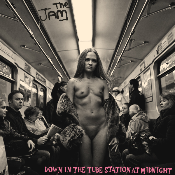 Cover Artwork Remix of The Jam Down In The Tube Station At Midnight
