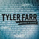 Cover artwork for Better In Boots - Tyler Farr