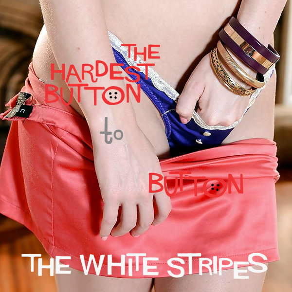 white stripes hardest button 2